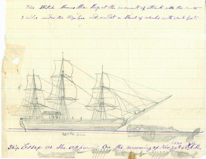 Skizze des Walangriffes auf die Essex.