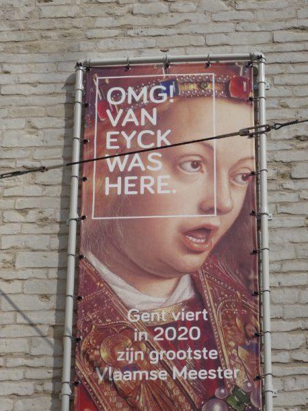 Werbeplakat für Bilder von Jan van Eyck in Gent