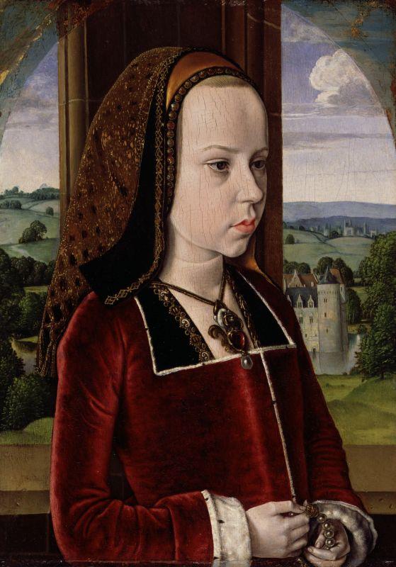 Margarete von Österreich als junges Mädchen.