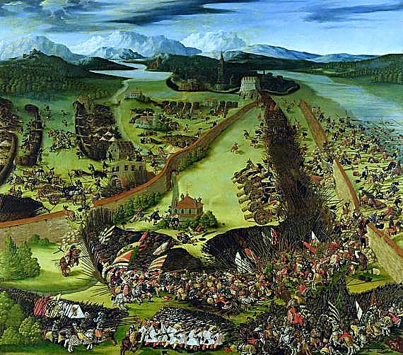 Die Schlacht bei Pavia, die bis zum Damenfriede von Cambrai nachwirkte.