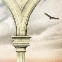 """Ausschnitt aus dem Cover des Romans """"Krone des Schicksals"""" von Richard Dübell"""