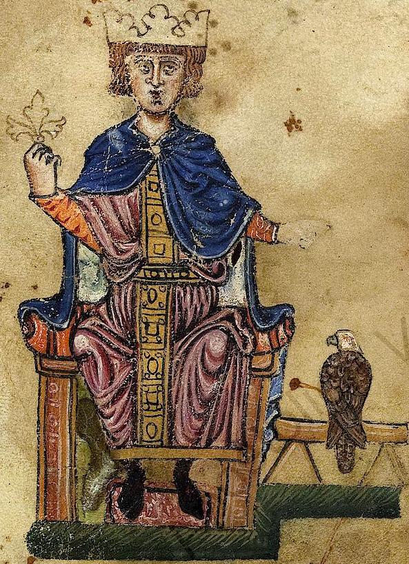 Kaiser Friedrich II., der ebenfalls von Walther von der Vogelweide besungen wurde.