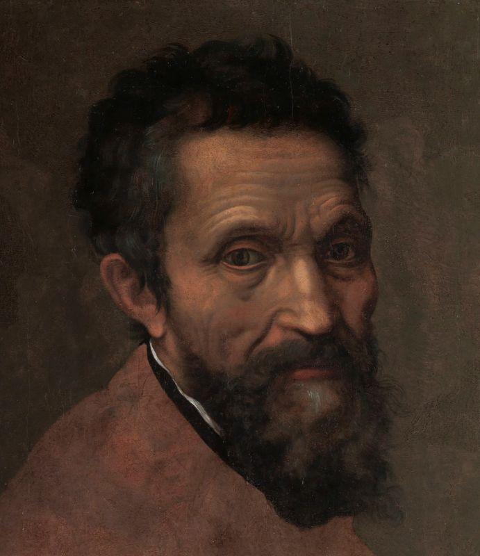 Ein Portrait, das Michelangelo zeigt.