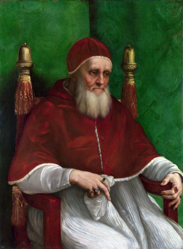 Von Raffael gemaltes Portrait von Papst Julius II.