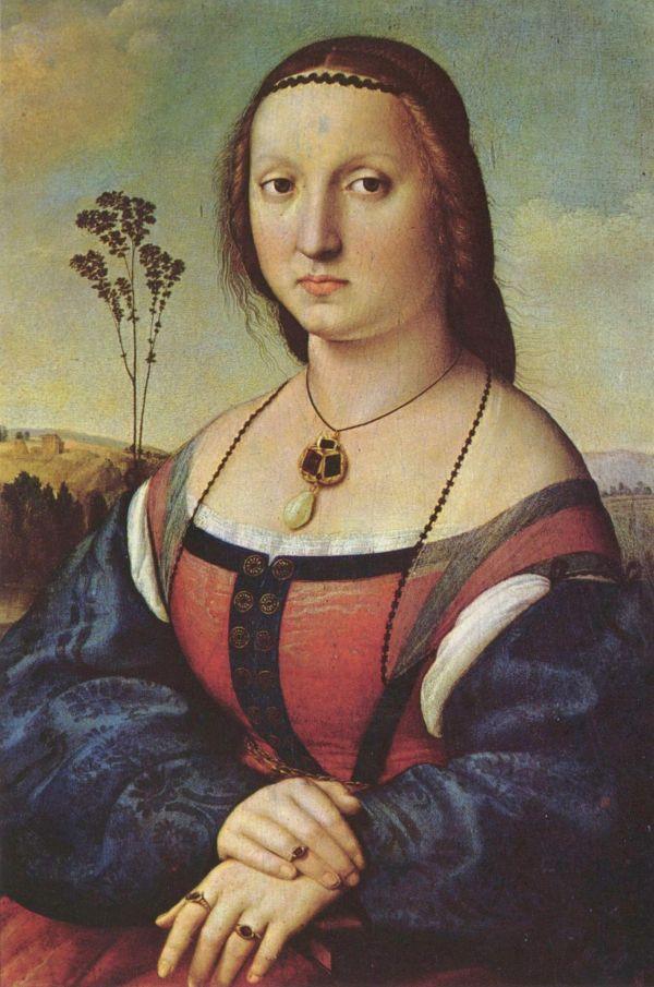 Portrait der Kauffmannsgattin Maddalena Doni von Raffael.