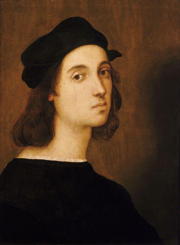 Selbstportrait des jungen Raffael.