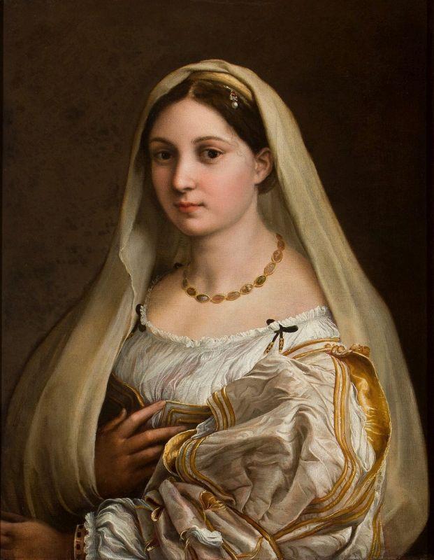 "Das Gemälde ""La Velata"" von Raffael."