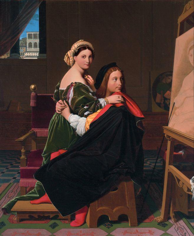 Raffael und seine Geliebte in der Vorstellung eines Malers aus dem 19. Jahrhundert.