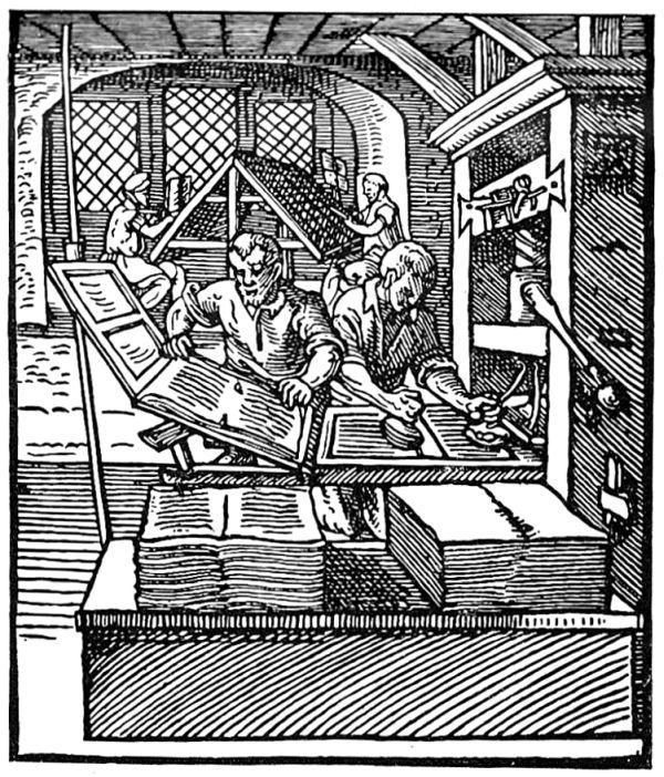 Der frühe Buchdruck: Alltag in der Druckerei.