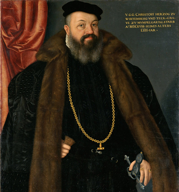 Herzog Christoph von Württemberg, der den Buchdruck für die Reformation nutzte.