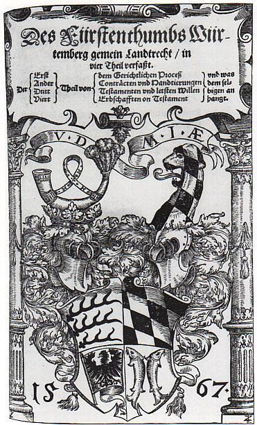 Das Württemberger Landrecht.