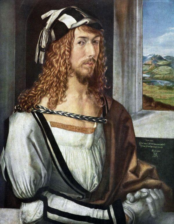 Albrecht Dürer um 1495. Deutlich zu sehen ist der Renaissance-Ellbogen.