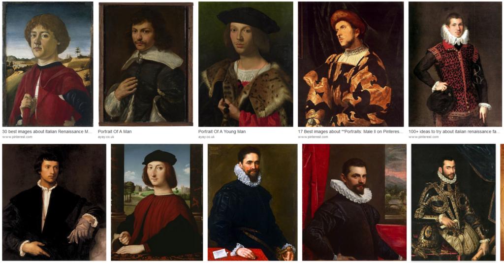Der Renaissance-Ellbogen ist überall!