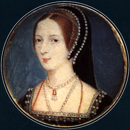 Miniatur, wahrscheinlich von John Hoskins, die Anne Boleyn zeigt.