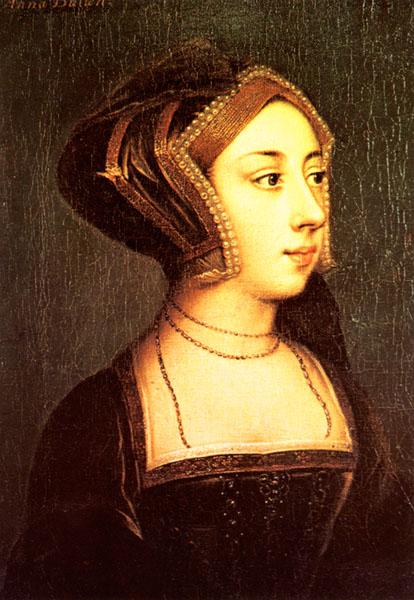 Ein weiteres mögliches Portrait von Anne Boleyn, das sich in Hever Castle befindet.