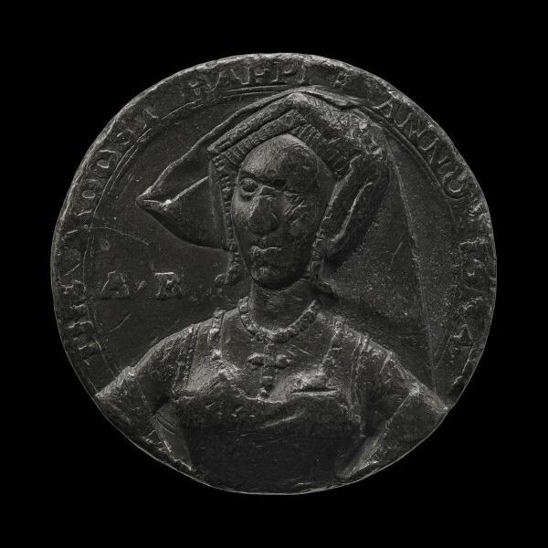 """Die """"Moost Happi""""-Medaille aus dem Jahr 1534, die Anne Boleyn zeigt."""