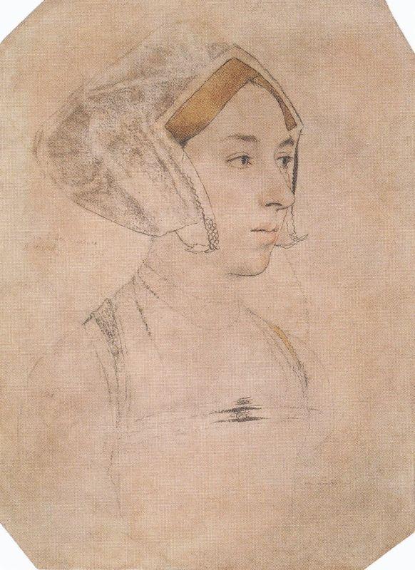 Mögliche Skizze der Anne Boleyn von Hans Holbein.