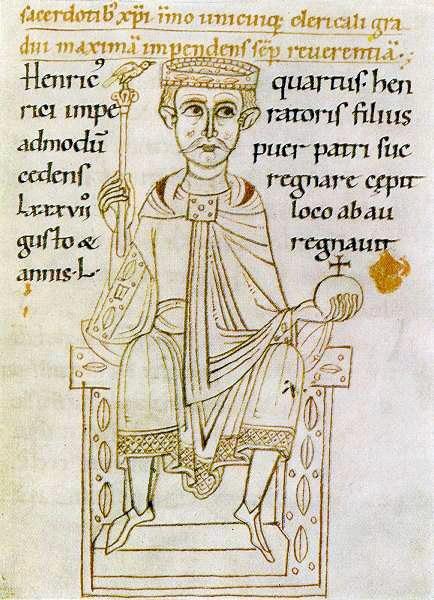 Heinrich IV., der auf die Treue der Grafen von Lenzburg zählen konnte.